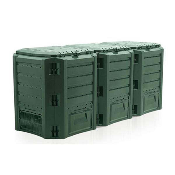 Compostsysteem groen 1200 liter 3 vaten