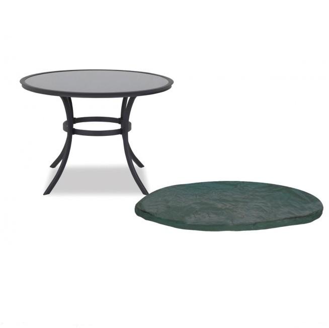Beschermhoes voor rond tafelblad 90 tot 120 cm