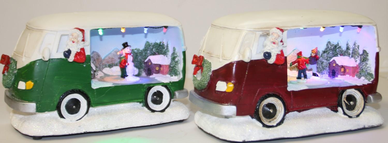 De bestelwagen van de Kerstman
