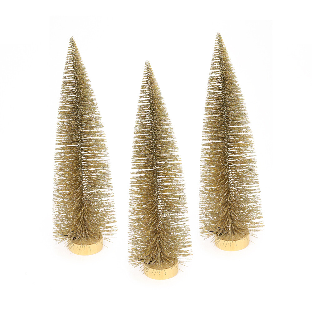 Dennenboom champagne glitter 40 cm
