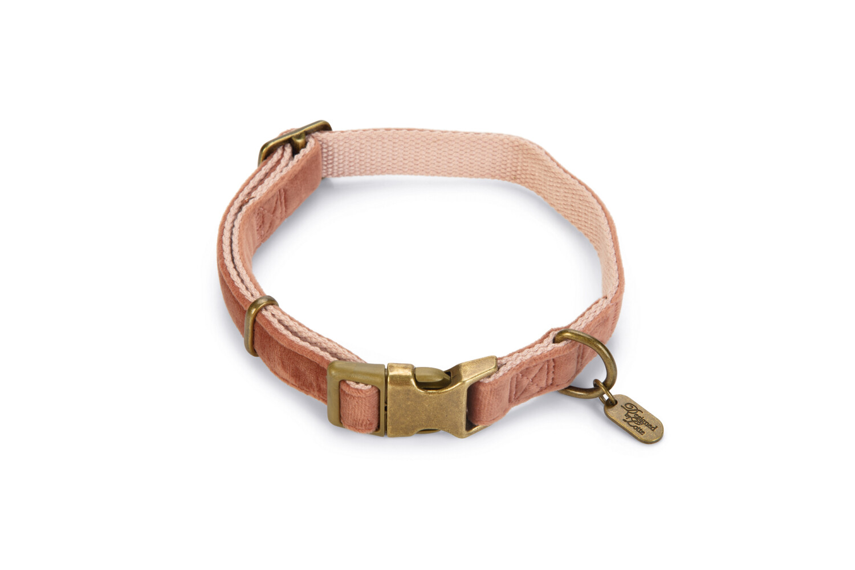 Halsband hond Velura fluweel roze 3550 cm Designed by Lotte