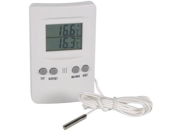 Digitale binnen en buitenthermometer