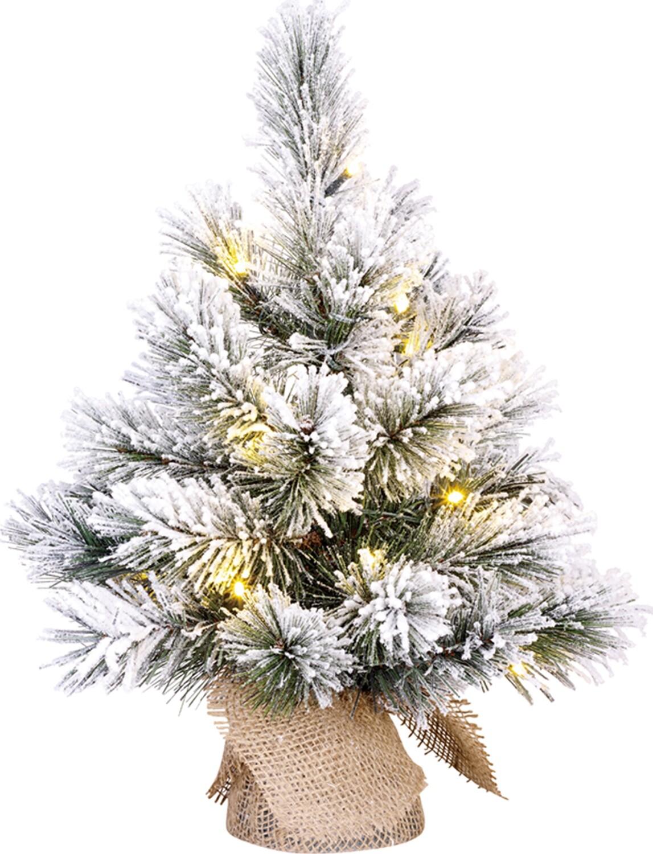 Black Box Dinsmore kerstboom jute groen frosted LED 10L h45 d23 cm