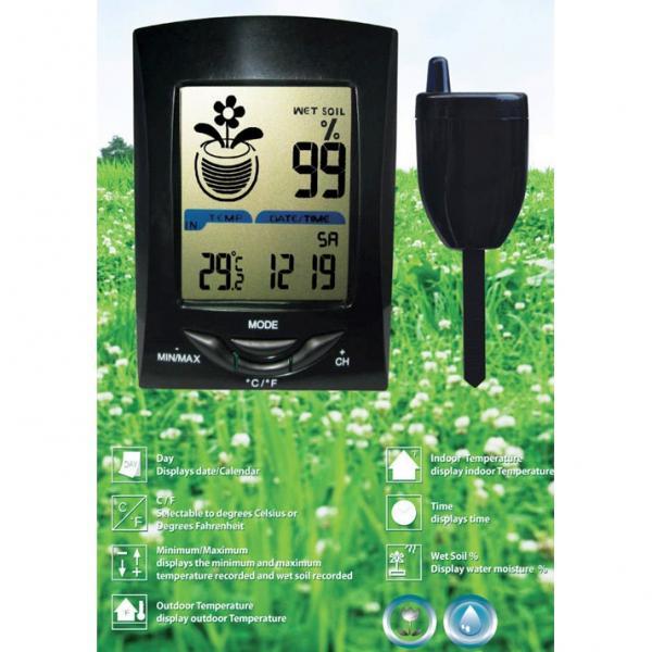 Draadloos vocht en temperatuurmeetstation