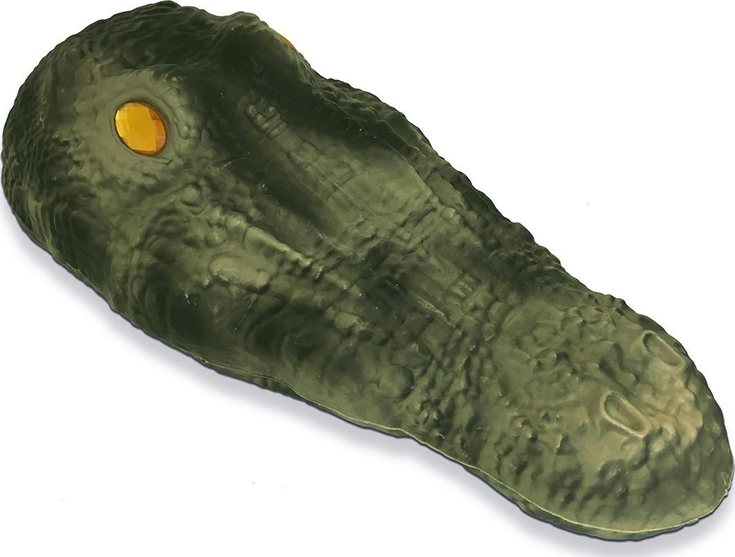 Drijvende krokodil als verjager