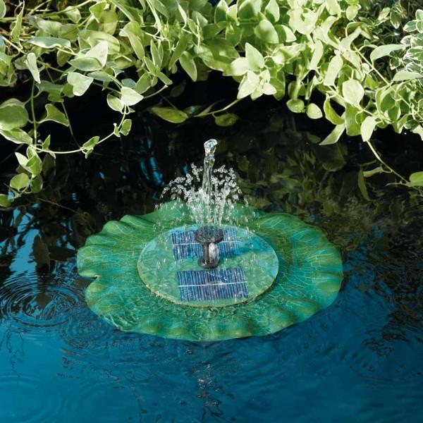 Drijvende lelie met fontein solar
