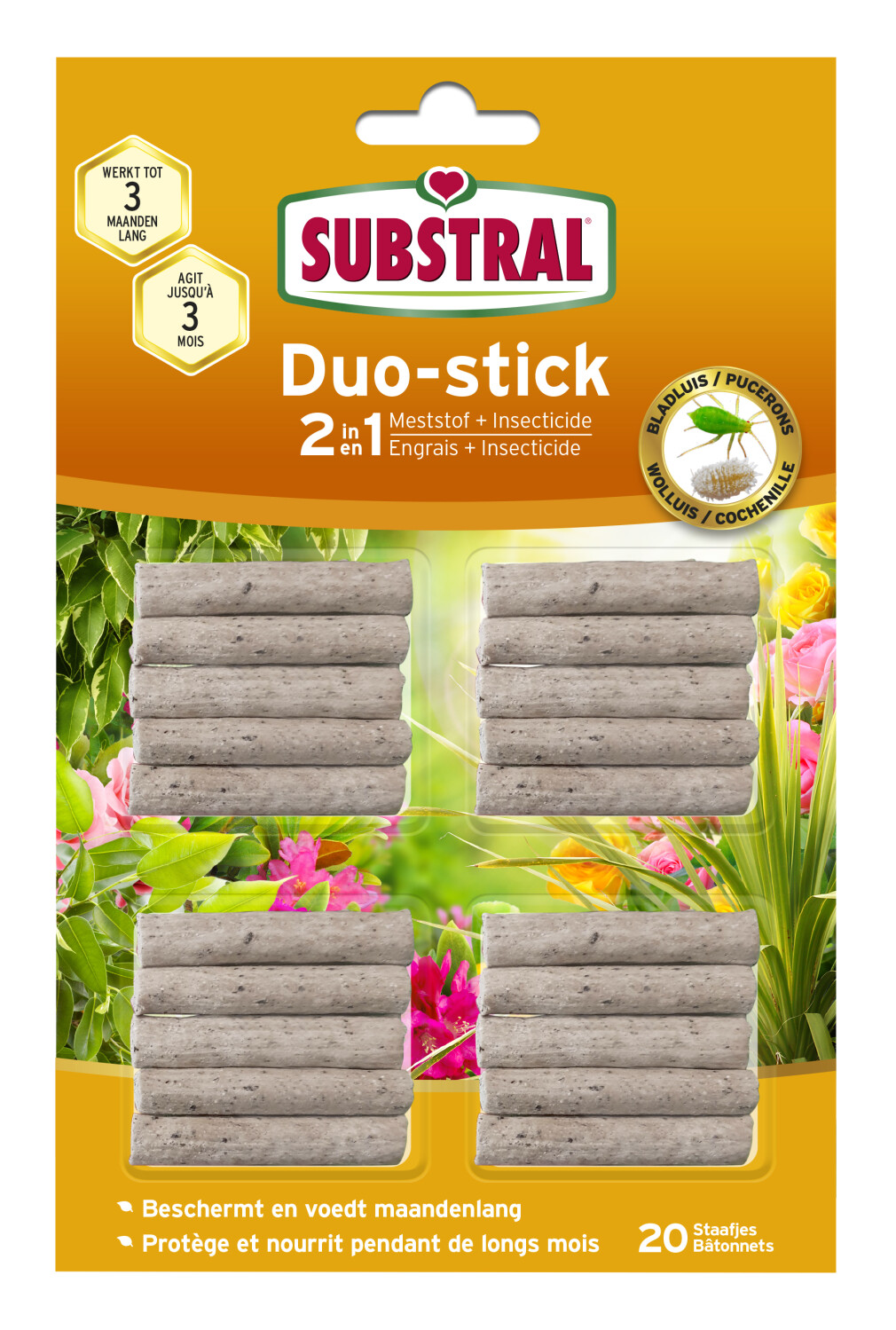 Duostick Substral meststof en insecticide 2 in 1