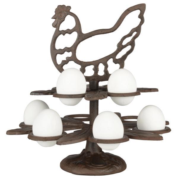 Eierhouder in gietijzer 10 eieren