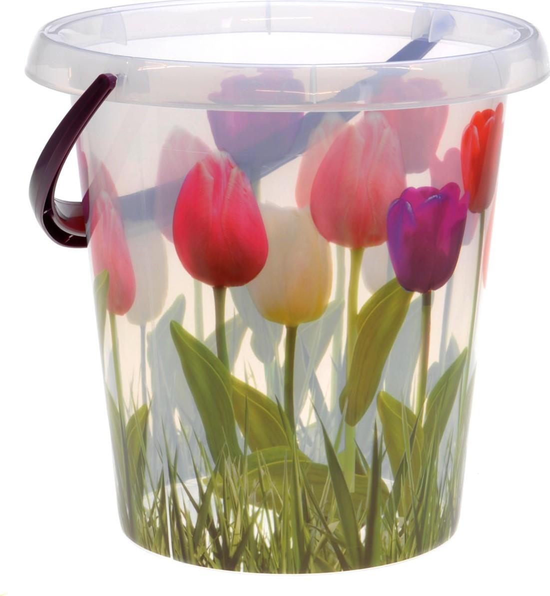 Emmer met tulpen12 L
