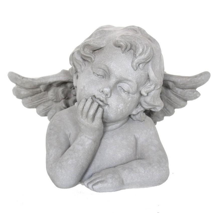 Engel dromend als borstbeeld