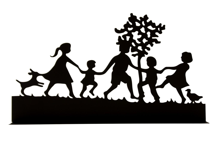 Familie silhouetmetaal