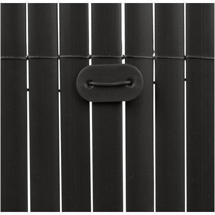 Fixclips voor tuinscherm zwart