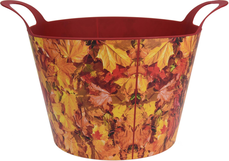 Flexibele tuinemmer met herfstprinttwee kleuren