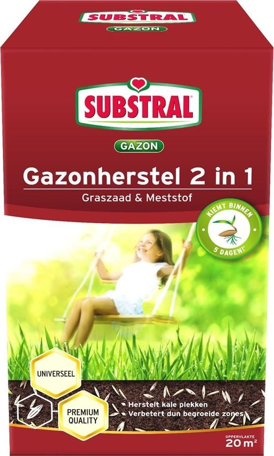 Gazonherstel graszaadmest 2IN120 m2