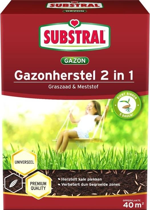 Gazonherstel graszaadmest 2IN1 40 m2