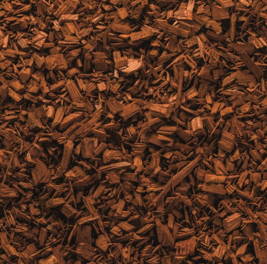 Gekleurde houtchips bruin 50 liter