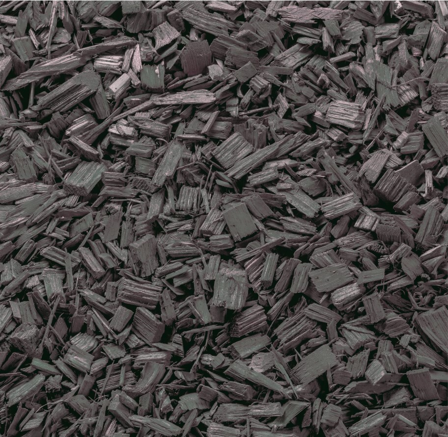 Gekleurde houtchips Ardoise grijs 50 liter