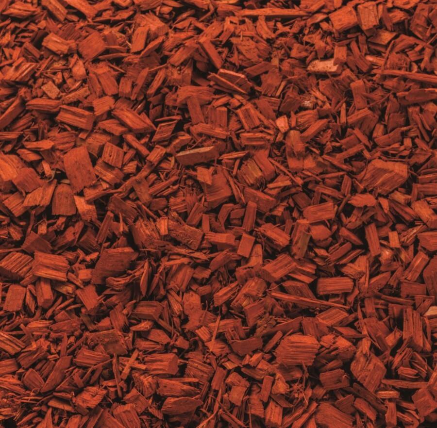 Gekleurde houtchips rood 50 liter