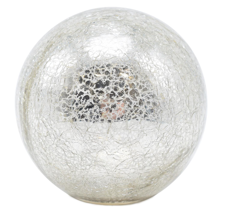 Glasbolgekrakeleerd met led 12 cm