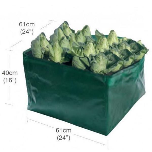 Groeizak voor groente hoog61 x 61 x 40 cm