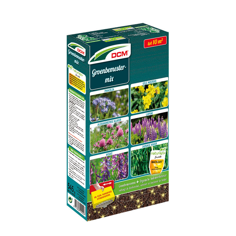 Groenbemester 6 soorten met bodemverbeteraar voor 10m2