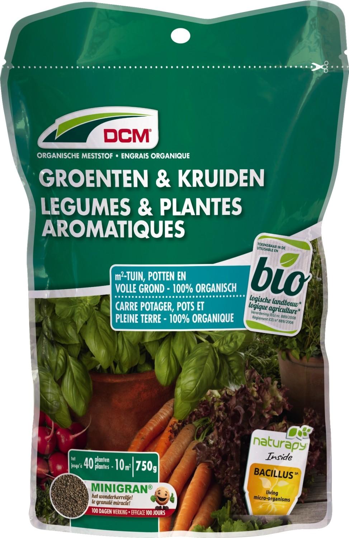 Groenten en kruiden meststof DCM BIO 750 g