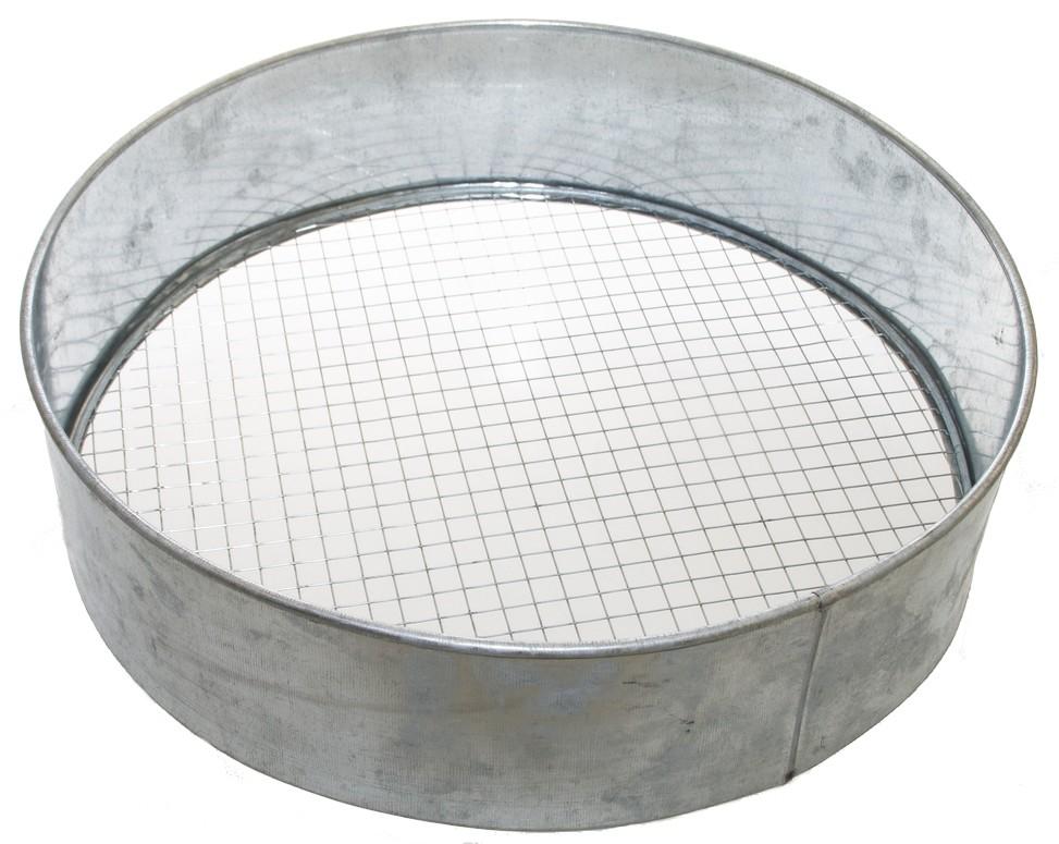 Grondzeef metaal met wisselbare zeefrasters39 cm