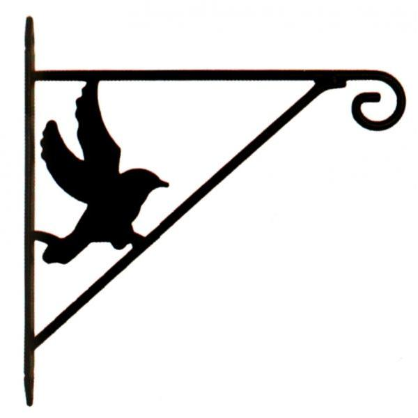 Haak vogeldecoratie voor hanging baskets