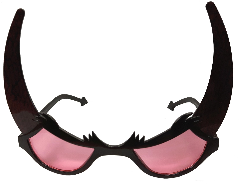 Halloween bril met duivelhoorns