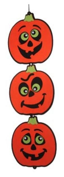 Halloween hangdeco 3 pompoenen