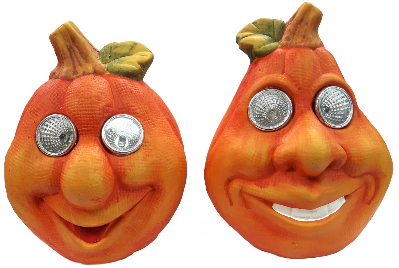 Halloween pompoen met LED ogen