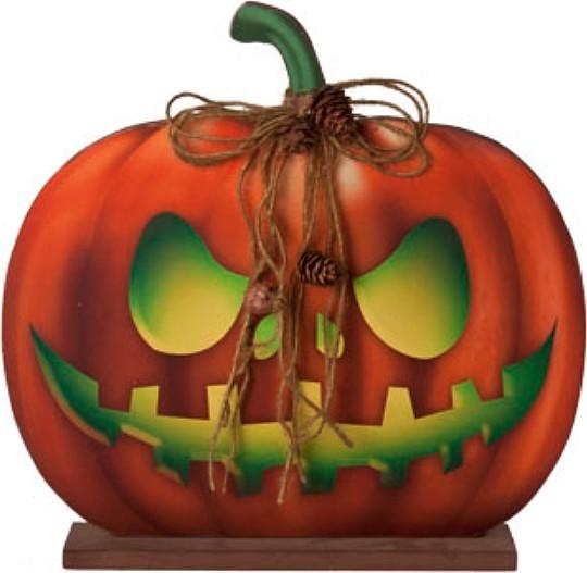 Halloween pompoen op voet