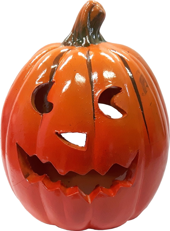 Halloween theelichthouder pompoen