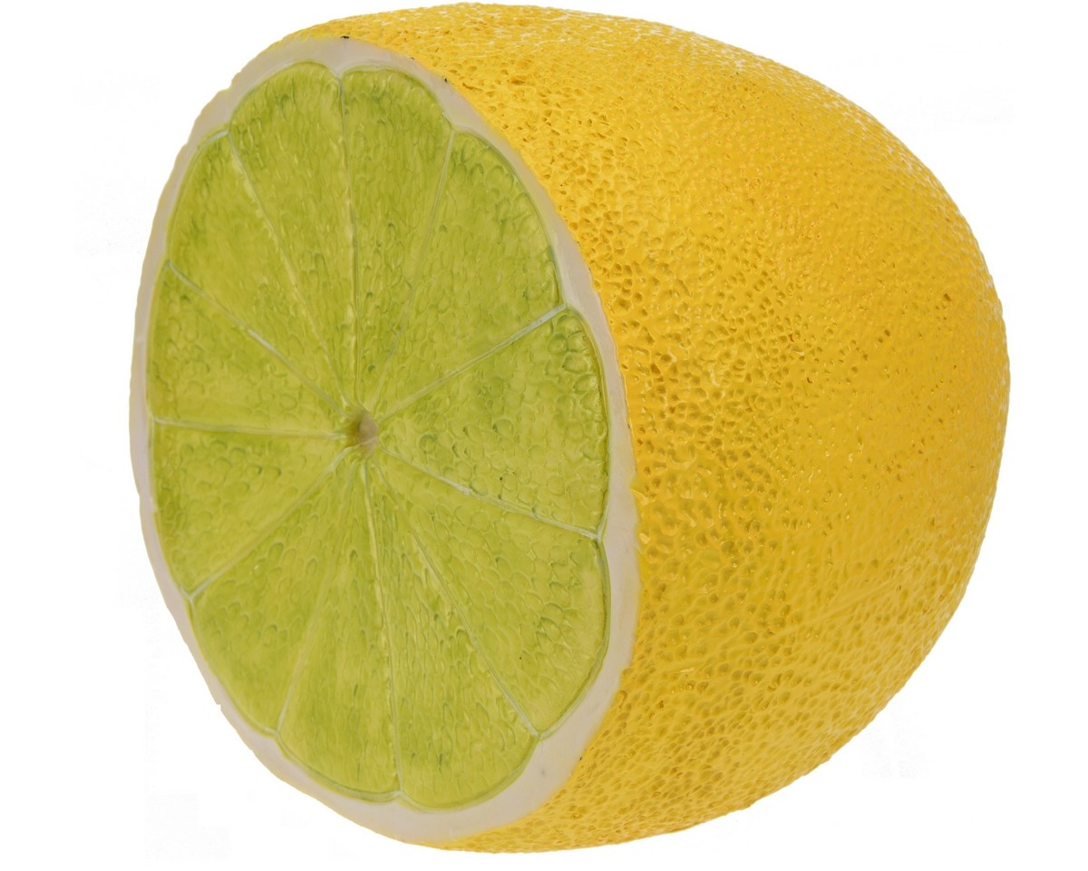 Halve citrusvrucht citroen of limoen