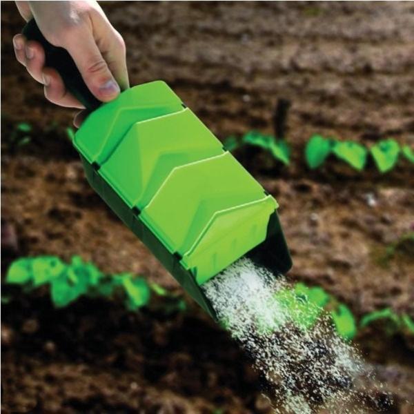 Handstrooier voor zaden mestkorrels zout zand