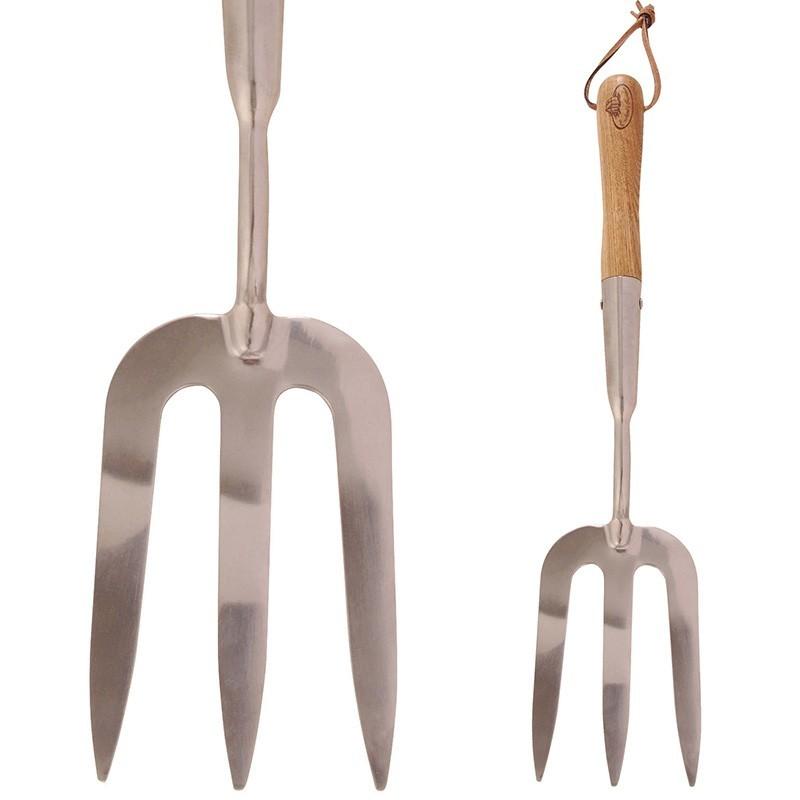 Handvork RVS met lange steel