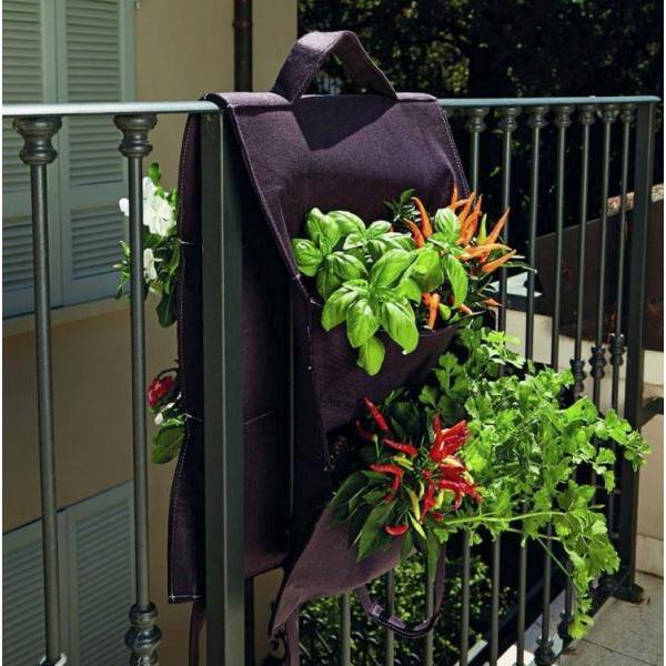Hangende moestuin voor balkon