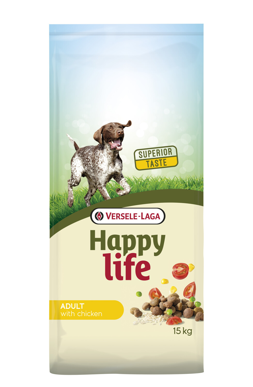 Hondenvoer Happy life ADULT Kip 15 kg