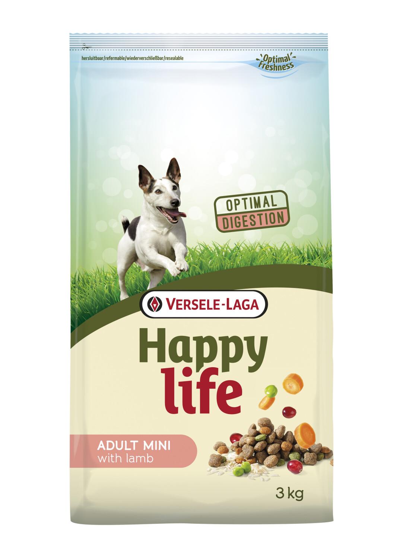 Hondenvoer Happy life ADULT MINI Lam 3 kg