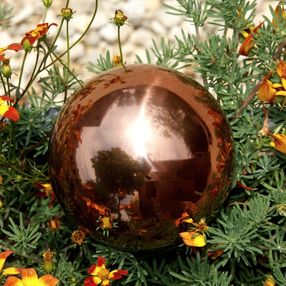 Spiegelbolheksenbol koper 10 cm