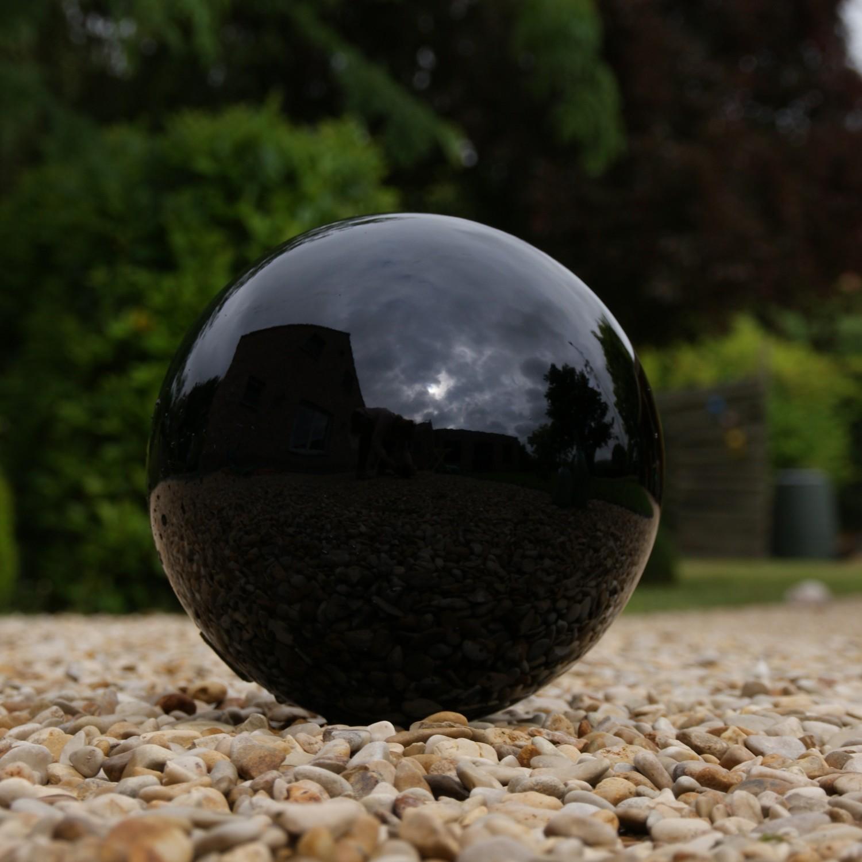 Spiegelbolheksenbol zwart 25 cm