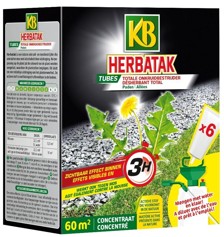 Herbatak totale onkruidbestrijding voor paden 6 tubes