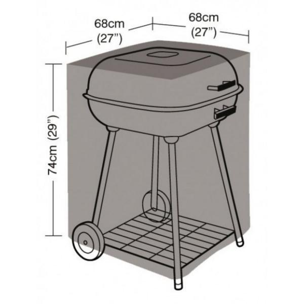 Hoes voor barbecue vierkant 68 x 68 x 74 cm