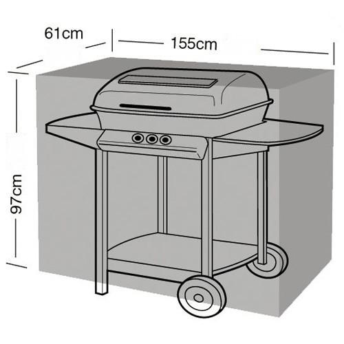 Hoes voor barbecue zwart155 x 61 x 97 cm