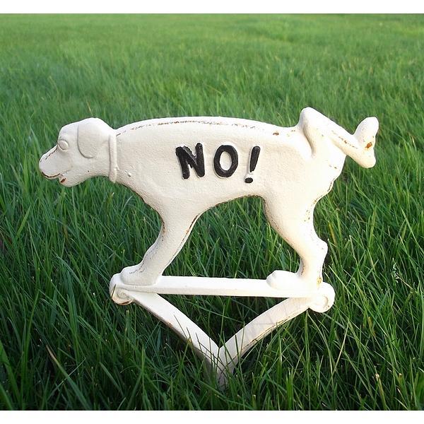 Hondenbordje niet plassenwit