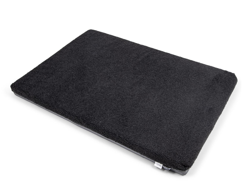 Hondenkussen memory foam pluche grijs 120 x 80 x 8 cm