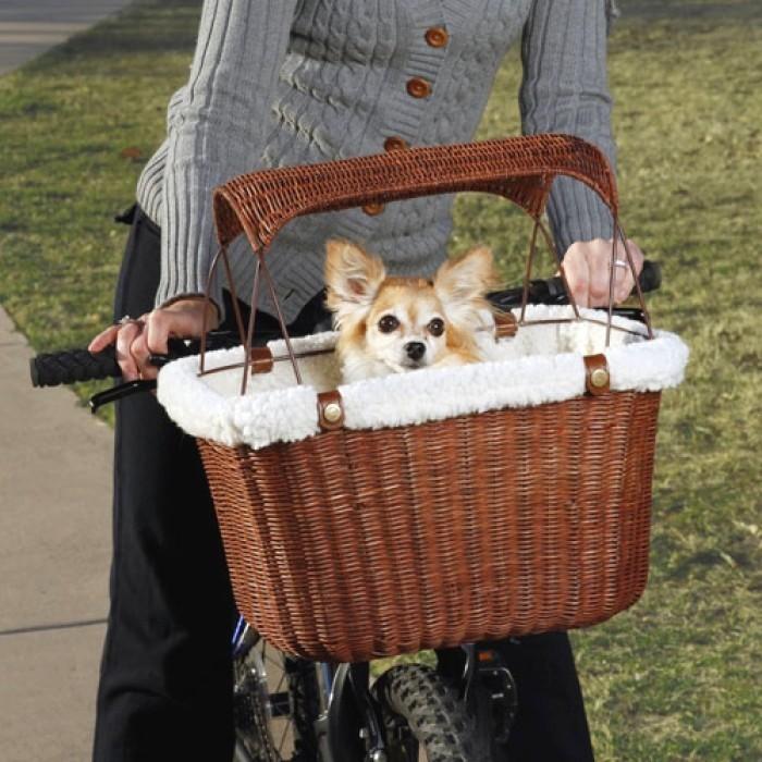 Hondenmand voor fiets met zonnescherm