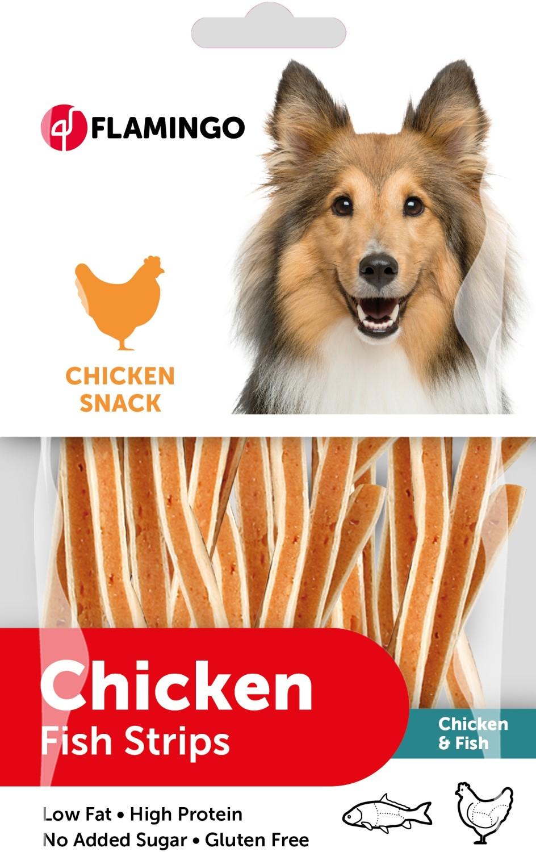 Hondensnack kip en vis sandwich85 g