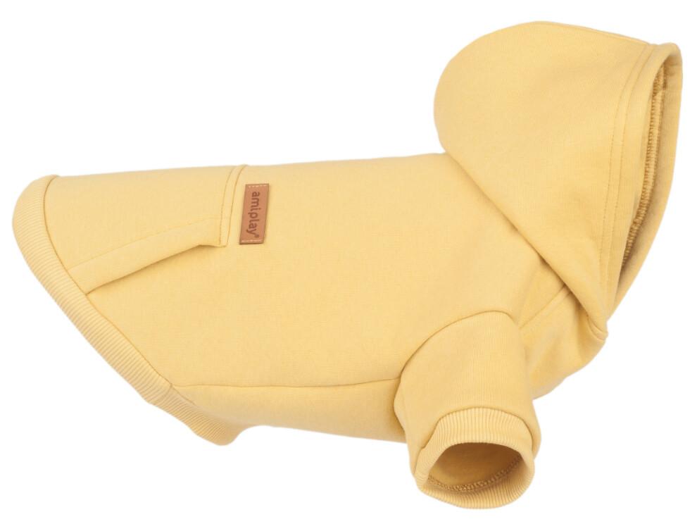 Hoodie voor honden Texas Amiplay geel