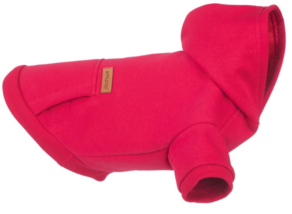 Hoodie voor honden Texas Amiplay rood